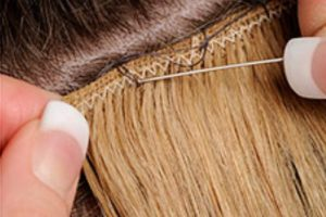 Hair extension types consultation information hair candy mobile with the micro bead weave hair extension method a hair weft is sectioned and connect to your natural hair is plaited wefts are the sewn to the plait pmusecretfo Choice Image