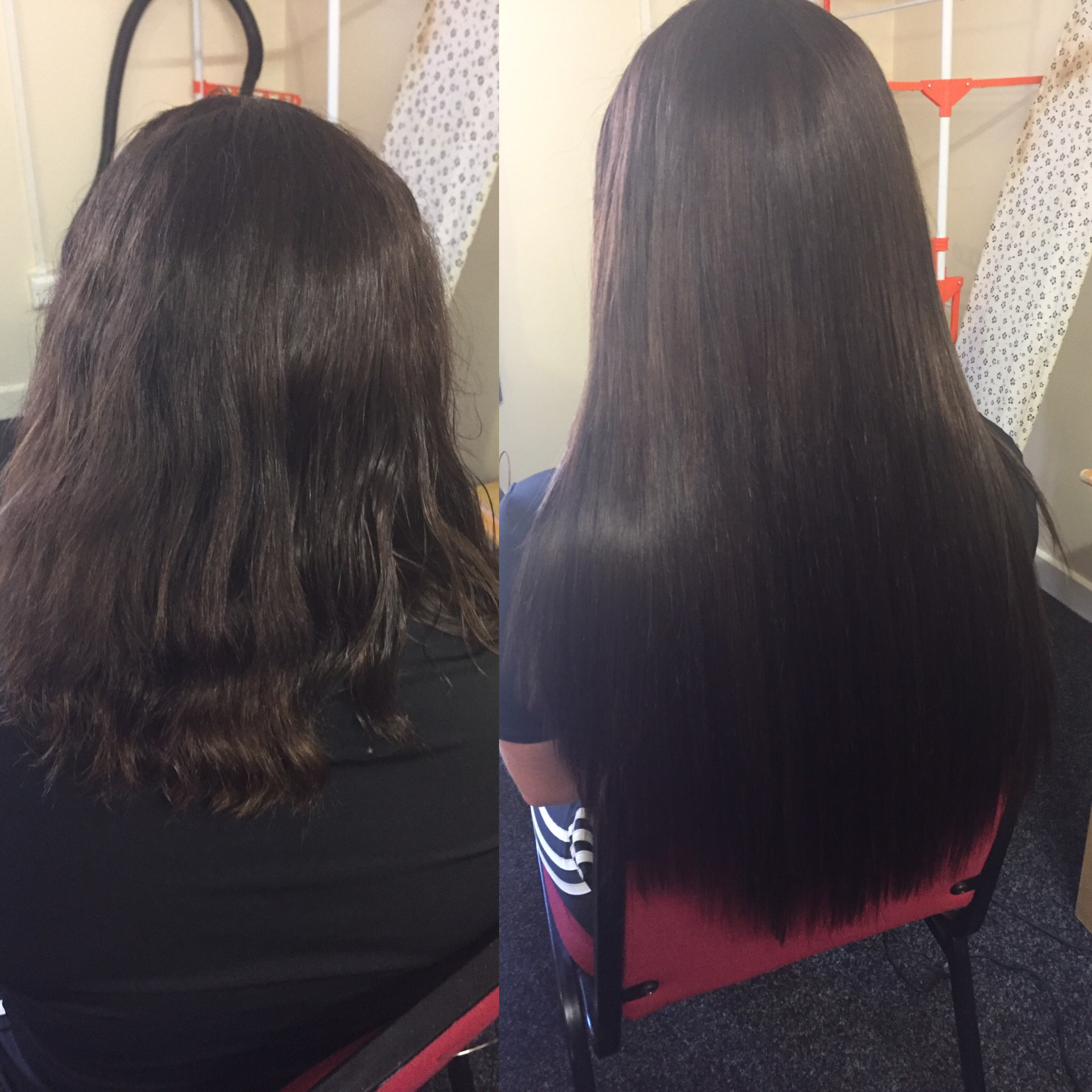 before and after LA weave manchester hair extensions