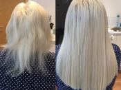 pictures before and after hair extensions